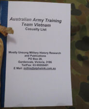Australian Army Training Team Vietnam: Casualty List. by Neil C Smith. Signed!