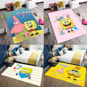 SpongeBob Area Rug Carpet 3D Print Anti-Skid Rug Home Living Room Floor Mats