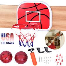 Mini Basketball Hoop System Kids Goal Over The Door Indoor Sports w/Ball Pump US