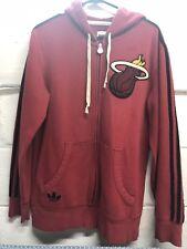 Adidas Miami Heat Hoodie Jacket Adult Medium NBA Basketball Hooded Sweater Mens