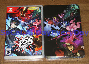 P5S Persona 5: Strikers with G4-size SteelBook Case! (Nintendo Switch) BRAND NEW