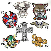 Fashion Punk Ghost Biker Skull Motorcycle Iron ON Patch Jean Jacket Coat Patch