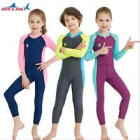 Kids Lycra Scuba Diving Wet Suit Children Surfing Swimwear Anti UV Rash Guard