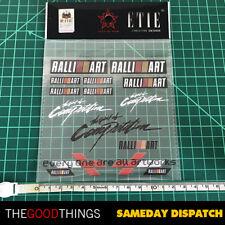 The Spirit of Competition Mitsubishi Ralliart Logo Vinyl Sticker EVO DRIFT JDM