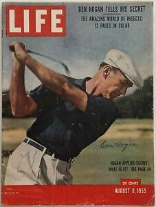 BEN HOGAN Signed August 8, 1955 LIFE Magazine - No Label - JSA LOA