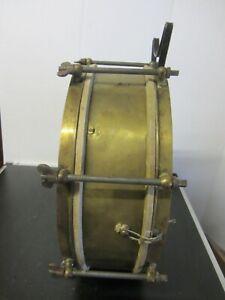 Alte Trommel Marschtrommel Messing + 2 Trommelstöcke