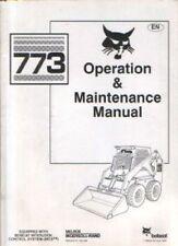 Bobcat Skid Steer Loader 773 operatori manuale