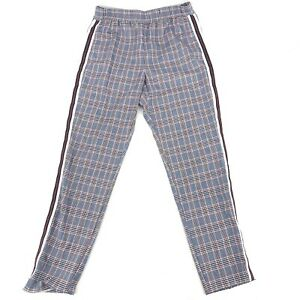 Size Small Hollister Plaid Red Blue White Pants Cropped Stretch Waist C161
