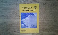 Football Programme - Torquay United v Gillingham - League Cup Replay - 1967