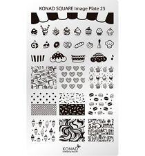 Konad Stamping Nail Art Square Image Plate 25