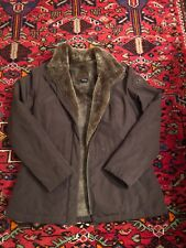 Fjall Women's Medium Winter Jacket, Faux Fur Lined, Brown