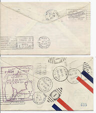 1928 US FFC Lot of 2 - CAM 8 San Jose CA & Pontiac MI, Many Receiving Cancels*