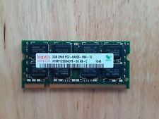 Hynix 2GB 2Rx8 PC2-6400s-666-12 RAM Laptop