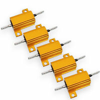 US Stock 5x 500 ohm 500R 10W Watt Aluminum Housed Metal Case Wirewound Resistors