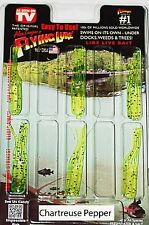 2'' Alex Langer's Chartreuse Pepper Flying Lure Clam Pack. 6 Lures+1 Hook.