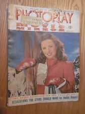 1942 PHOTOPLAY MOVIE MIRROR January issue Barbara Stanwyck COVER MOVIE MAGAZINE