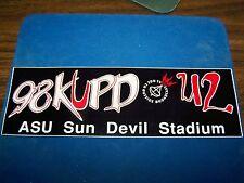 1992 U2 Zoo Tv Tour Outside Broadcast, 98 Kupd Bumper Sticker Asu Sun Devil Stad