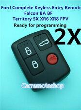 2X Ford BA BF Falcon Sedan/Wagon Central Locking Keyless Car Remote 4 Button