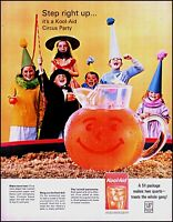 1964 Kids circus party costumes Kool-Aid pitcher vintage photo print ad adl83