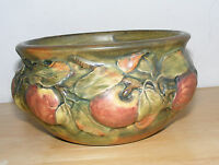 Signed Weller Pottery Bowl Antique Apple Baldin Design 1915-1920 Jardiniere