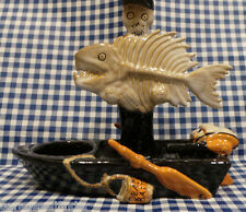 YANKEE CANDLE HALLOWEEN BONEY BUNCH 2014 FISH AND BOAT TEA LIGHT HOLDER SOLD OUT