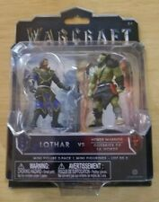 WARCRAFT Movie Mini Figure 2-Pack LOTHAR vs. HORDE WARRIOR NEW FREE SHIP!!