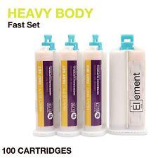 Element HEAVY BODY VPS PVS Impression Material FAST Set 100 X 50ML Dental