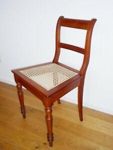 Biedermeier Stuhl mit Geflecht - Kirsche Kirschbaum - um 1880 - restauriert