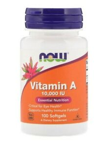 NOW FOODS VITAMIN A 10.000 IU 100 SOFTGELS