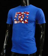 Dc shoes Usa Team Skateboard Red Logo Blue Classic Mens t shirt Small