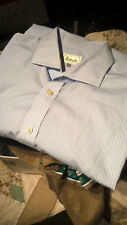Harrods all cotton luxury mens dress shirt 17.5/44 made in UK.