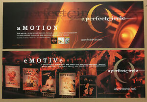 Tool A PERFECT CIRCLE Rare 2004 DOUBLE SIDED PROMO POSTER BANNER for E Motive CD