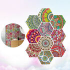 10pcs/pack Removable Hexagon Tile Decals Home Decoration For Bathroom Kitchen