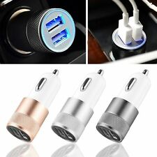 Mini Dual 2 Port USB Car Charger Adapter for Smart Mobile Cell Phone