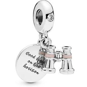 Genuine Pandora Charm Sterling Silver Binoculars Hanging 798062CZ