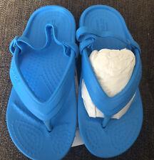 Crocs Kids Classic Flip K Sandals Shoes Size 10 Ocean