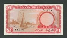 GAMBIA  £1  1965  P2  Uncirculated   World Paper Money