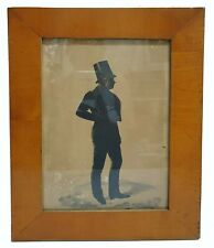 Early 19th c. Frederick Frith Full-body Silhouette of Gentleman in Great Frame