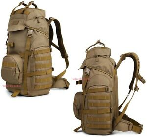 70L Molle Outdoor Military Tactical Backpack Travel Camping Trekking Rucksack