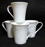 222 Fifth ROMANCE 10 Oz Mug Set of 4 NEW EXCELLENT