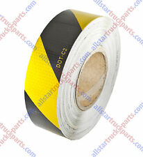 "2""x150' Floor Reflective Safety Warning Yellow/Black Caution Tape Honeycomb Des"