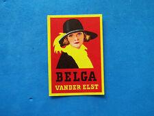 Etiquette d'allumette ancienne 1 matchbox label Belgique Belga cigarettes