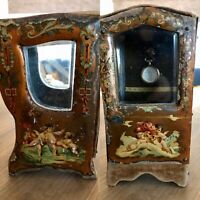 Antique 1800s  French Sedan Chair Pocket Watch Holder Doll Box RARE
