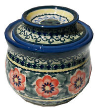 Polish Pottery French Butter Dish  from Zaklady Ceramiczne Boleslawiec 1512/134a