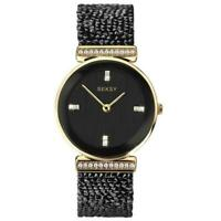 Seksy Rocks Black Swarovski Crystal Ladies Watch 2655
