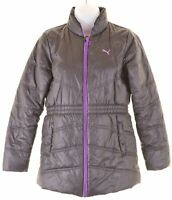 PUMA Girls Padded Jacket 11-12 Years Black  BQ12