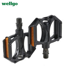 WELLGO M195 MTB BMX Aluminum Bicycle Cycling Pedals Mountain Bike Pedals Black