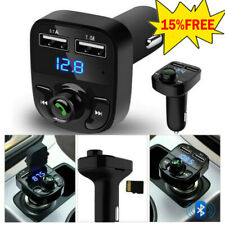 Wireless Bluetooth Handsfree Car Fm Transmitter Mp3 Players Dual Usb Charger Hot