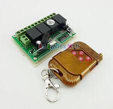 DC 12V 4 Channel Wireless Remote Control Switch Module + Peachwood 4 Keys Board