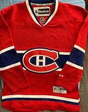Montreal Canadiens Blank Red Reebok Replica NHL Jersey Size Medium
